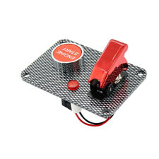Car Boat Engine Start Push Button Red Cover Toggle Ignition Switch
