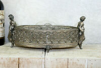 Stunning art nouveau german pewter lady glass insert jardiniere planter 1900
