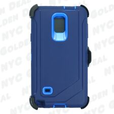 Navy For Samsung Galaxy Note 4 Defender Case with Clip fits Otterbox