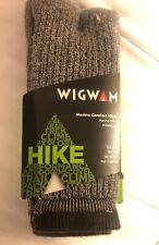 "Wigwam Grey Comfort Hiker Sock 10"" Long Size 12 to 15 F2322-057XL XL New"