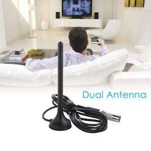 30dBi Indoor HD Digital DVB-T/FM Freeview TV Aerial Antenna W/ Magnetic Base