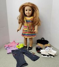 American Girl Doll Mia With Clothes Shoes 2008 Some Damage See Description