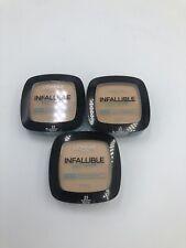 Lot of 3 L'oreal Infallible Pro-Glow Powder 23 Nude Beige Longwear 20