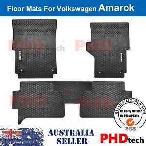 Premium Quality  Amarok All Weather Rubber Car Floor Mats 2011-2021