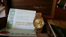 Mens 18k Solid Gold Rolex Day-date president Bracelet Automatic Gold Dial Wrist
