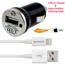 USB Mini Car Charger&Certified Lightning to USB Cable for iphone 6 6Plus 5S iPod