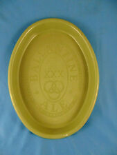 Plastic oval tray Ballantine Ale logo green advertising beer party XXX bar art