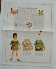 Vintage 1966 Betsy McCall Easter Tree Paper Doll Magazine Page Uncut