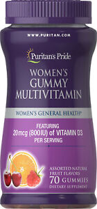 Puritan' Pride women's gummies multivitamin x70 800IU Vitamin D3