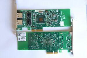 Dell 01P8D1 1P8D1 Intel G18758-003 Dual-Port PCIe Gigabit Network Card RJ-45