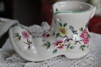 SCARPA VINTAGE IN MINIATURA CERAMICA /OLD FOLEY CHINA BOOT CHINESE ROSE