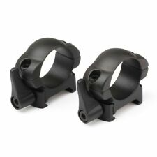 Steel Weaver Rings 25.4mm Low Profile Black Matte Top Mount Scope Mounts