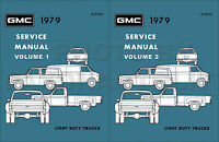 1979 GMC Truck Shop Manual Set Pickup Sierra Van Jimmy Suburban Repair Service
