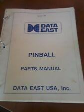 Pinball machine manual data east pinball parts manual 1989