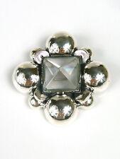 Vintage - Brosche / Anhänger - BOTTEGA VENETA - Bergkristall - Sterling Silber