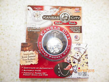 """26"""" Chain and Fob Battery Operated New Kansas City Railroad Pocketwatch with"""