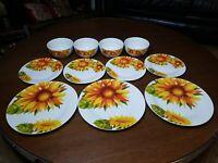 NEW Royal Norfolk Sunflowers Dinnerware Set 11 Pcs. (Eleven)