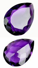 38,50ct  Intense Purple Amethyst Pearshape Portuguese Facet - IF - origin India