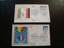 FRANCE - 2 enveloppes 1er jour 1985 (francophonie-television) (cy18) french