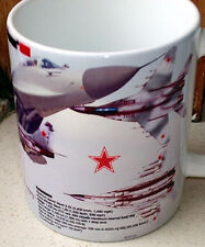 Mig 29 Fulcrum Russia jet Fighter aircraft Russian Air Force Ltd EdT MUG