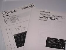 Roland CR 1000 Digital Drummer  PDF Manual with Service Notes