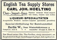 Carl Joh. hoelting Berlino English Tea thee-IMPORT-casa LIQUEUR insegne 1896