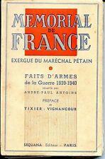 MEMORIAL DE FRANCE - Exergue du Maréchal Pétain - AP Antoine 1940 - Guerre 39-45
