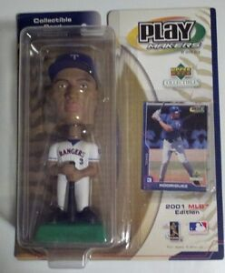 2001 ALEX RODRIGUEZ UD PLAY MAKERS BOBBLE HEAD MLB LIMITED EDITION TEXAS RANGERS