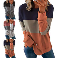 Women Casual Long Sleeve T Shirt Blouse Loose Pullover Tunic Tops Plus Size
