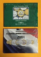 FRANCE 1998 et 2001 SERIES BRILLANT UNIVERSEL FDC 70 - LOT de DEUX ( 2 ) -