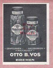 Brema, Pubblicità 1930, otto B. vos SENAPE-cetrioli sale cetrioli piccalilly