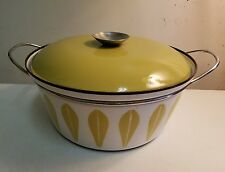 Catherineholm lotus enamelware casserole with lid white 4 qt