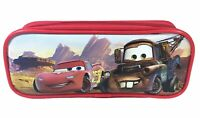 Disney Cars Red Pencil Pouch Zippered Pencil Case Authentic Bag