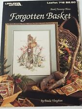 Paula Vaughan Forgotten Basket Counted Cross Stitch Chart Book 23 Flowers