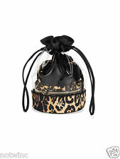 Victoria's Secret Three (3) Cosmetic Trio Makeup Bags Leopard Set Case $36 NWT