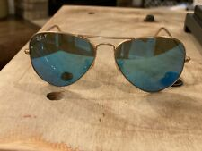 Ray-Ban Aviator Flash Sunglasses Rb3025 Blue Flash- One Lenses Cracked