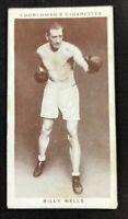 1938 Churchman's Boxing Personalities  #38 BILLY WELLS