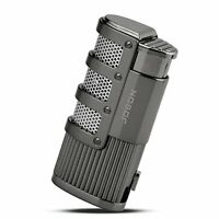 TOPKAY Cigar Lighter, Triple Jet Flame Torch Lighter with Cigar Punch Cutter,