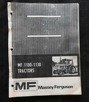 GENUINE 1978 MASSEY FERGUSON MF1100 MF1130 MF 1100 1130 TRACTOR OPERATORS MANUAL