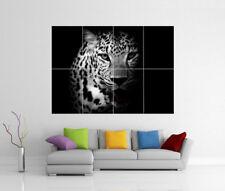 léopard animal chat mural géant ESTAMPE photo affiche