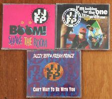 JAZZY JEFF & FRESH PRINCE 3 x single cd collection