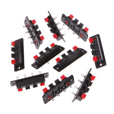 10 Pcs Single Row 4 Pin 4 Position Push Speaker Terminal Board Type Connectors