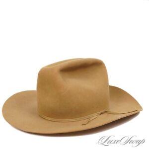 LNWOT Resistol Made in USA 3X XXX Beaver Hazelnut Wide Brim Cowboy Hat 7.5 NR