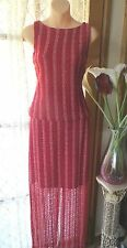 Full-Length Stretch, Bodycon Polyester Striped Women's Dresses