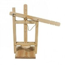 Wooden cheese press with movable arm for home use - organic material