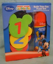 Mickey MOUSE Clubhouse Bath Time FUN FOAM Set Count Blueberry SOAP 3+ Toddler