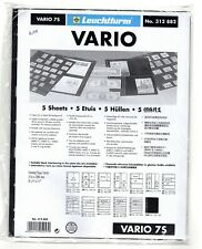 VARIO 7S - Stamp Sheets (7 divisions) BLACK, New, Unopened packaging