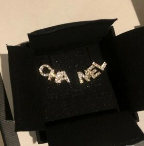Authentic Chanel Classic CC Logo Earrings