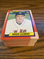 (90) 1990 Topps #245 Roger Clemens Boston Red Sox NM-MT+ Lot