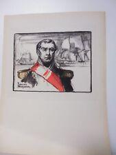 Marine: Portrait par C. de Foucray de l'amiral BARON DUPERREE